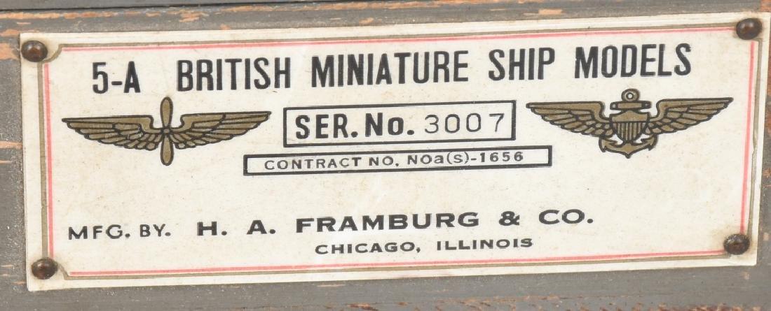WWII U.S. NAVY SHIP IDENTIFICATION MODELS BRITISH - 7