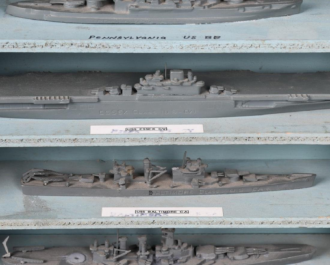 WWII U.S. NAVY SHIP IDENTIFICATION MODELS - U.S. - 8