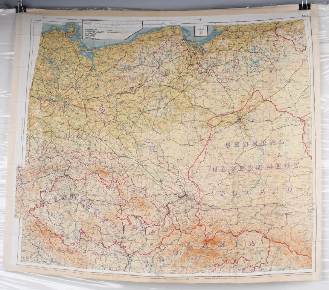 WWII U.S. AAF D-DAY INVASION SILK MAPS