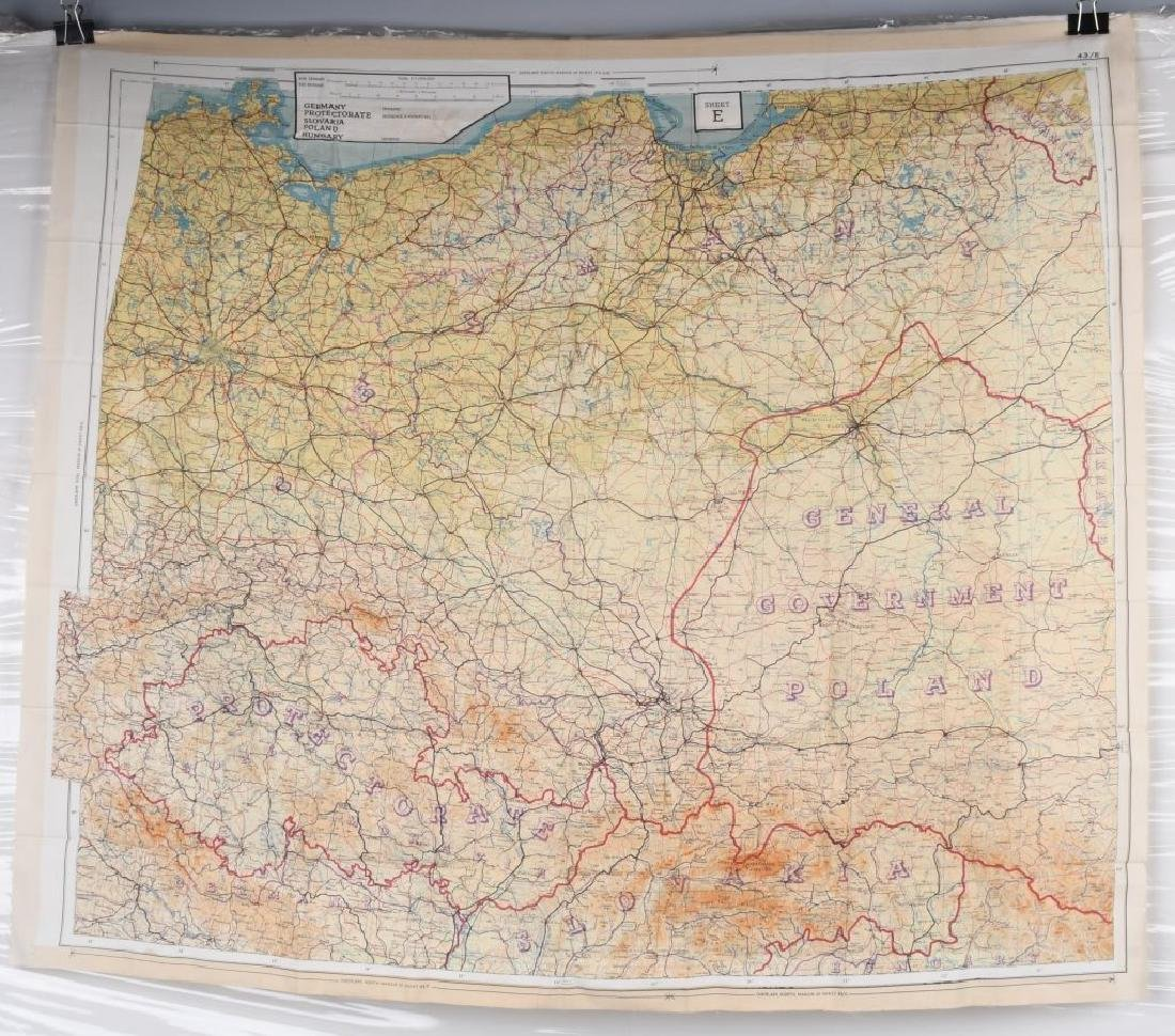 WWII U.S. AAF D-DAY INVASION SILK MAPS