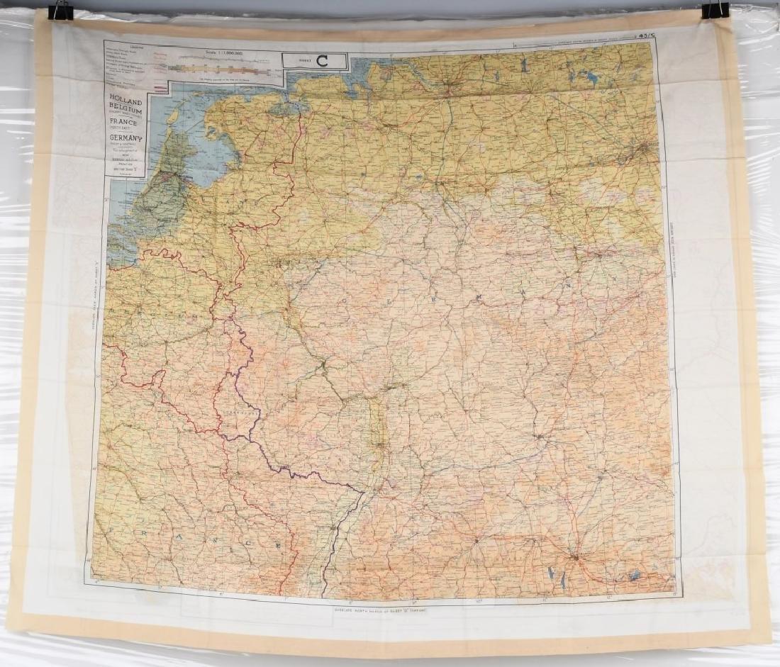WWII U.S. AAF D-DAY INVASION SILK MAPS - 4
