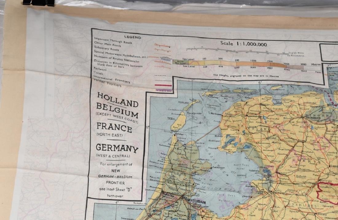 WWII U.S. AAF D-DAY INVASION SILK MAPS - 5