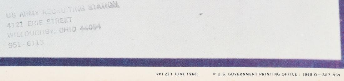 VIETNAM WAR 1968 WILLOUGHBY OHIO RECRUITING POSTER - 2