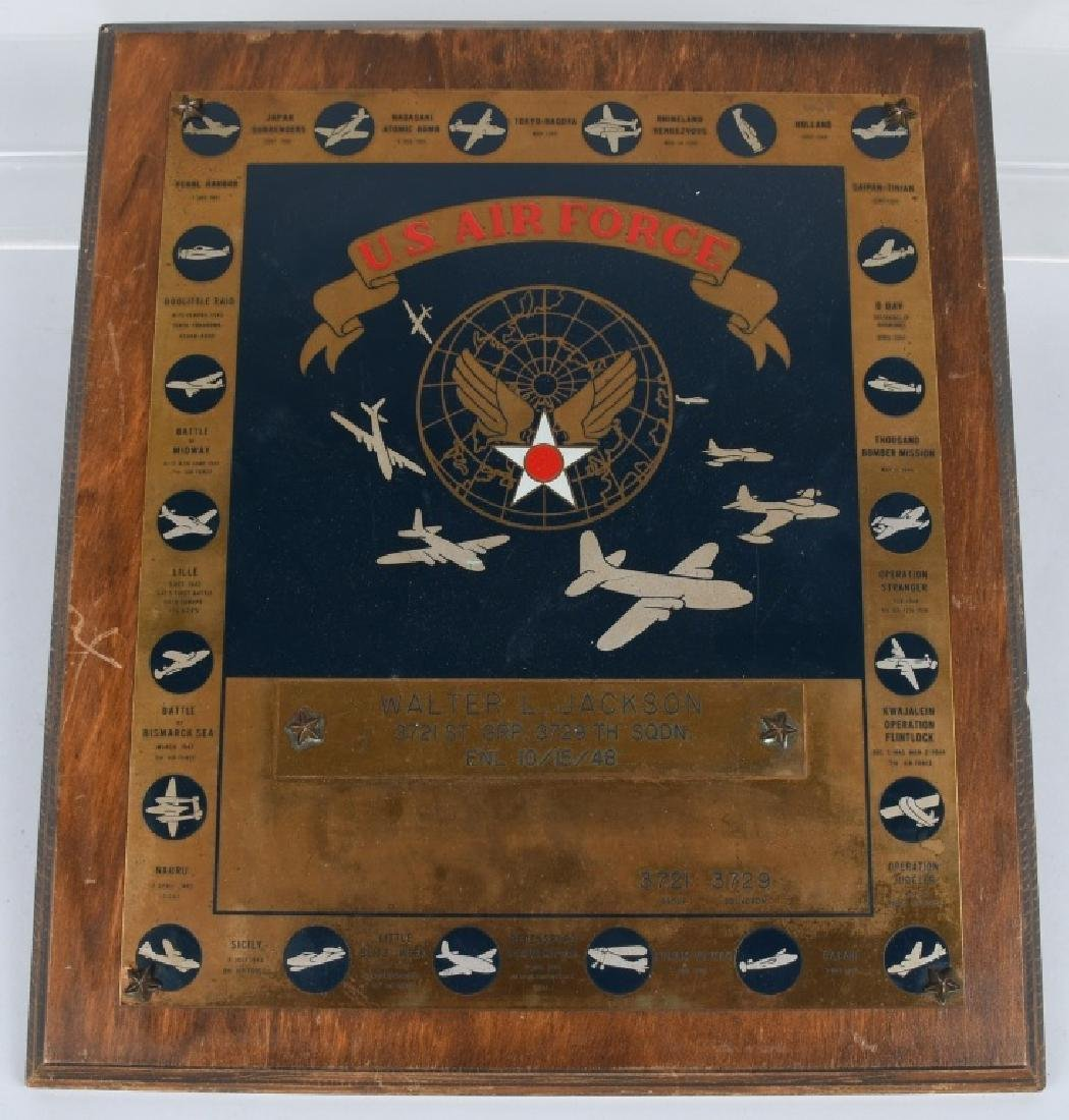 POST WWII US AIR FORCE PLAQUE. 10-15-48