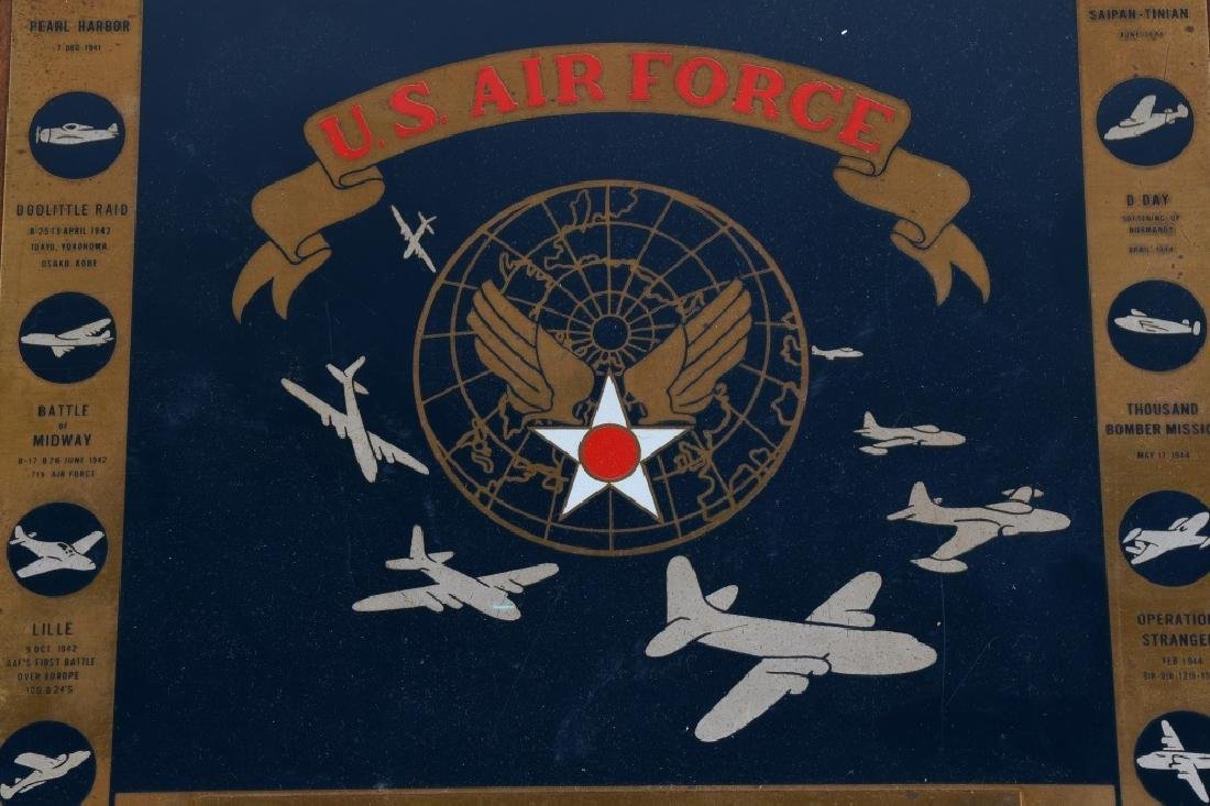 POST WWII US AIR FORCE PLAQUE. 10-15-48 - 2