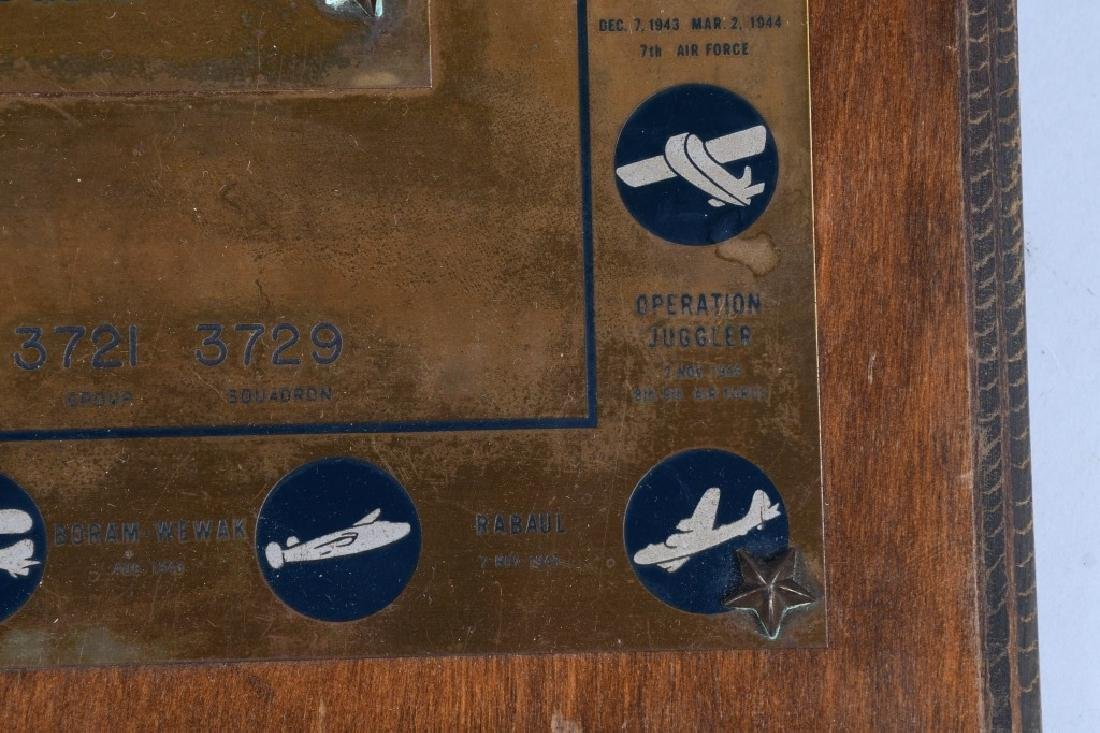 POST WWII US AIR FORCE PLAQUE. 10-15-48 - 4