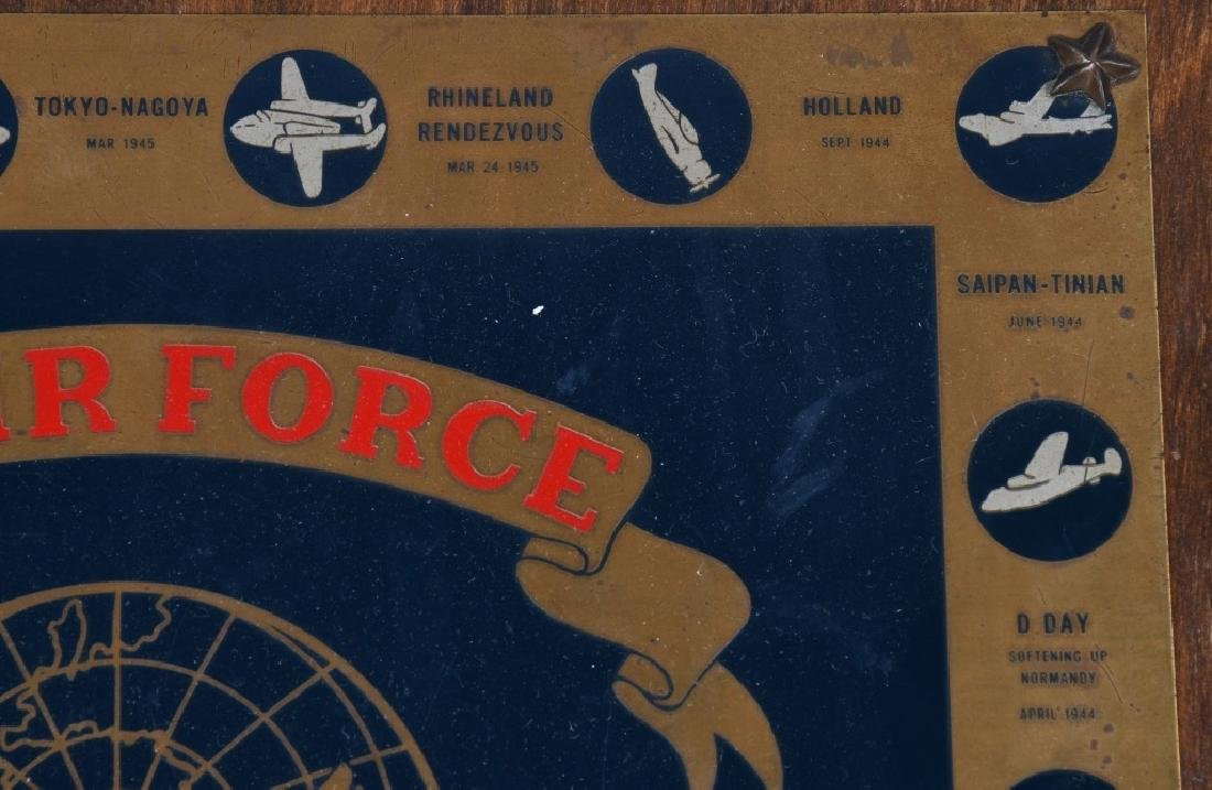 POST WWII US AIR FORCE PLAQUE. 10-15-48 - 6
