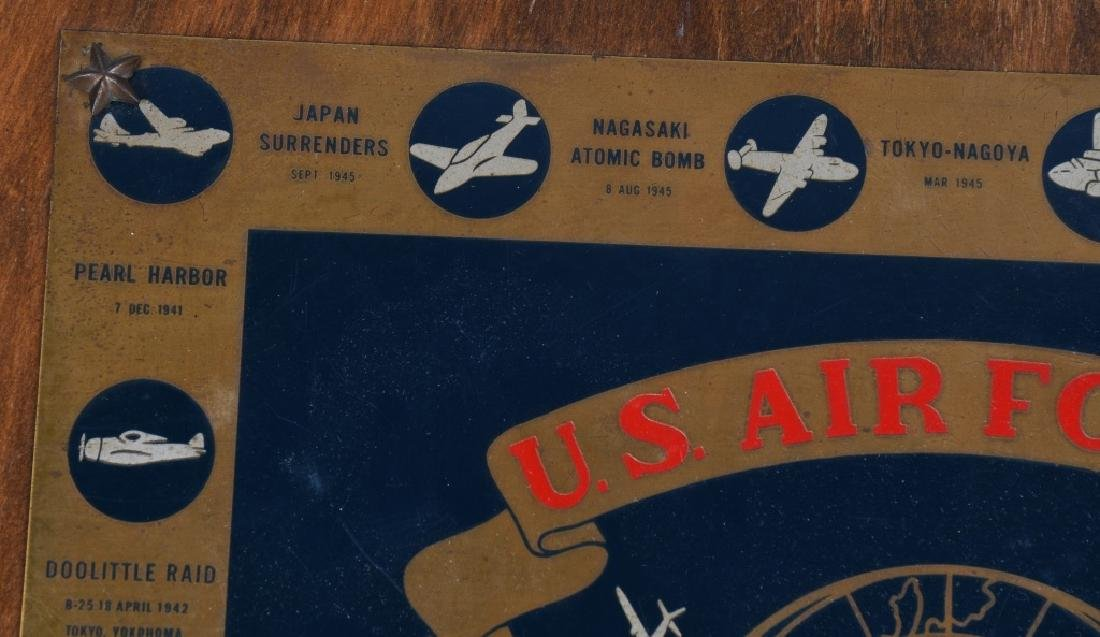 POST WWII US AIR FORCE PLAQUE. 10-15-48 - 7