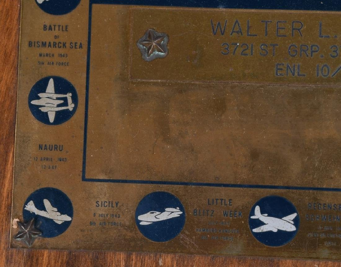 POST WWII US AIR FORCE PLAQUE. 10-15-48 - 9