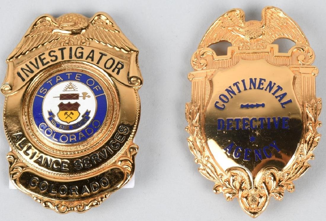 OBSOLETE POLICE BADGE LOT (2)