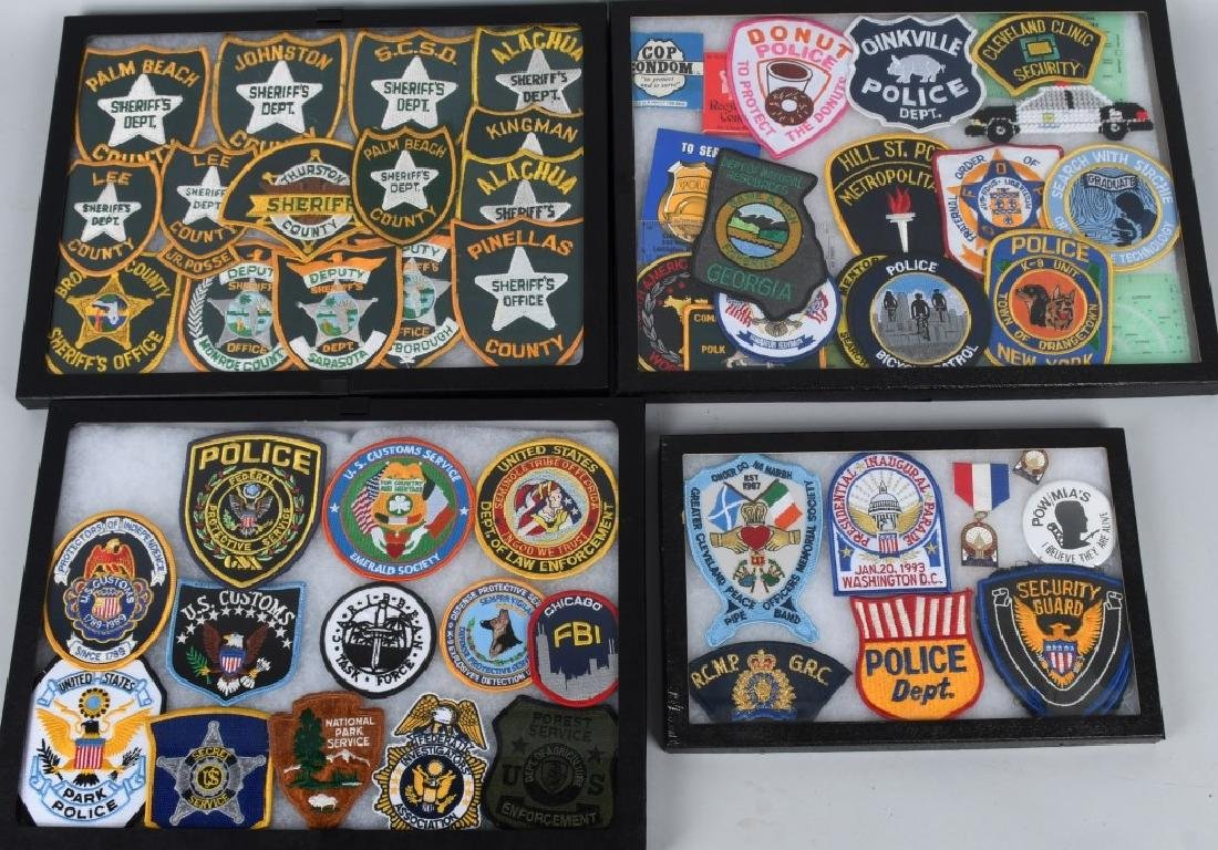 LARGE LOT of LAW ENFORCEMENT PATCHES & MORE
