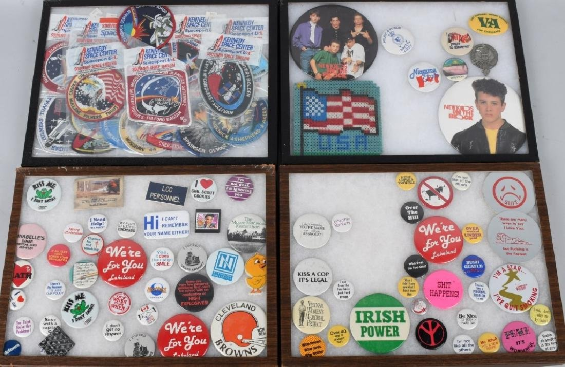 LARGE LOT of SPACE PATCHES & PINBACK BUTTONS