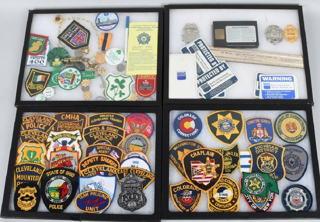LARGE LOT of LAW ENFORCEMENT PATCHES, & MORE