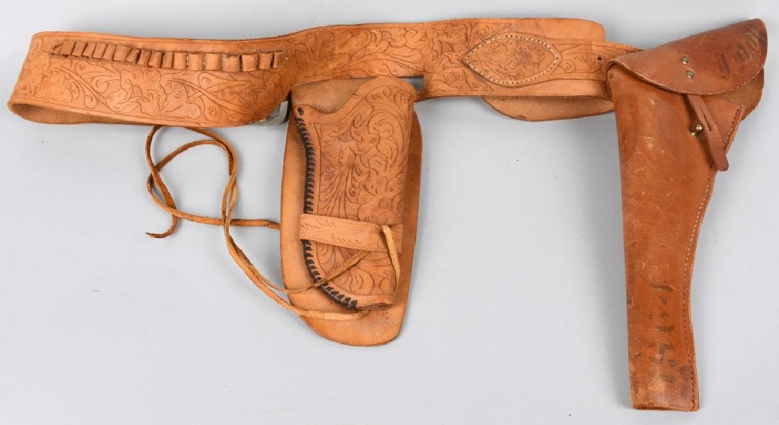 TOOLED LEATHER HOLSTER RID & FLAP HOLSTER