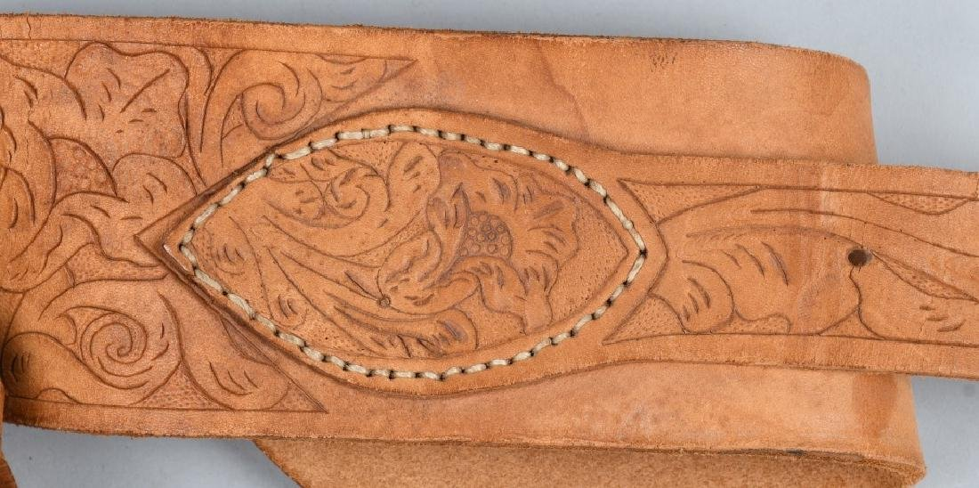 TOOLED LEATHER HOLSTER RID & FLAP HOLSTER - 3