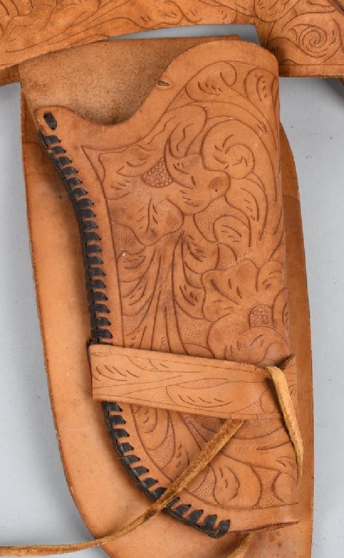 TOOLED LEATHER HOLSTER RID & FLAP HOLSTER - 5