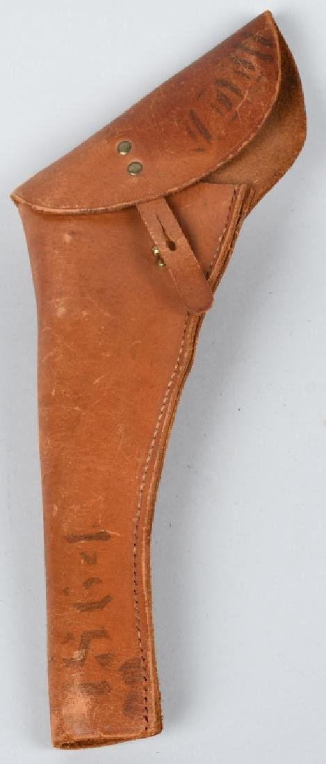 TOOLED LEATHER HOLSTER RID & FLAP HOLSTER - 8