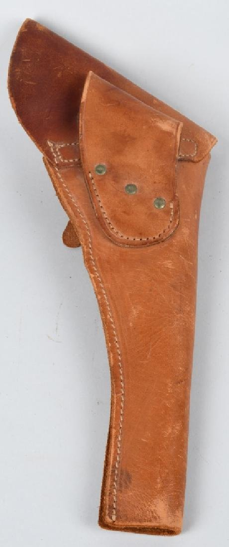 TOOLED LEATHER HOLSTER RID & FLAP HOLSTER - 9