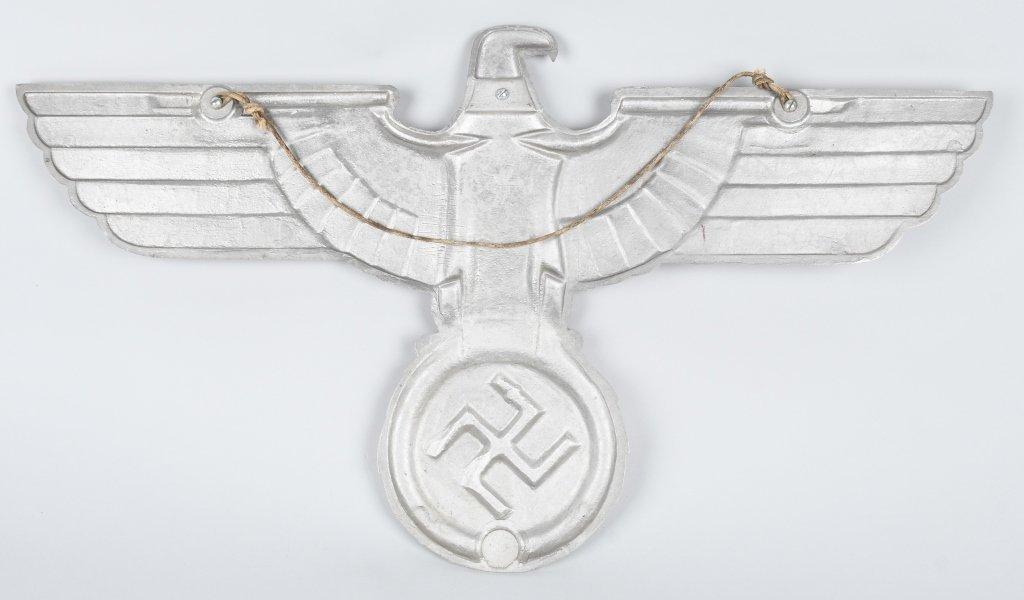 REPRODUCTION NAZI ALUMINUM TRAIN CAR EAGLE - 4