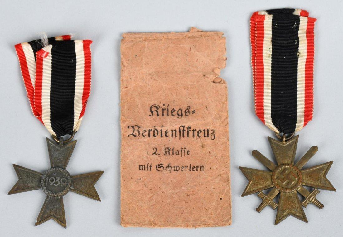 WWII NAZI GERMAN WAR MERIT CROSS LOT - 2