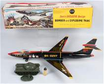 SEARS Tin Friction US AIR FORCE BOMBER w BOX