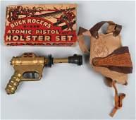 BUCK ROGERS ATOMIC PISTOL & HOLSTER SET w/ BOX