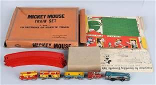 MARX Tin Windup MICKEY MOUSE TRAIN SET w BOX
