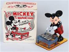 MARX Windup MICKEY THE MUSICIAN w/ BOX