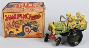 MARX Tin Windup JUMPIN JEEP w/ BOX