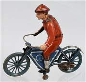 FISHER Tin Windup MOTORCYCLE WITH RIDER