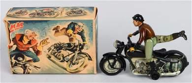 ARNOLD Tin Windup MAC 700 MOTORCYCLE w/ BOX