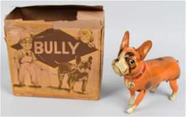B&S Tin Windup BULLY DOG w/ BOX