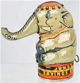 ENGLISH JUMBO ELEPHANT tin MECHANICAL BANK