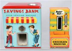 2VENDING tin MECHANICAL BANKS