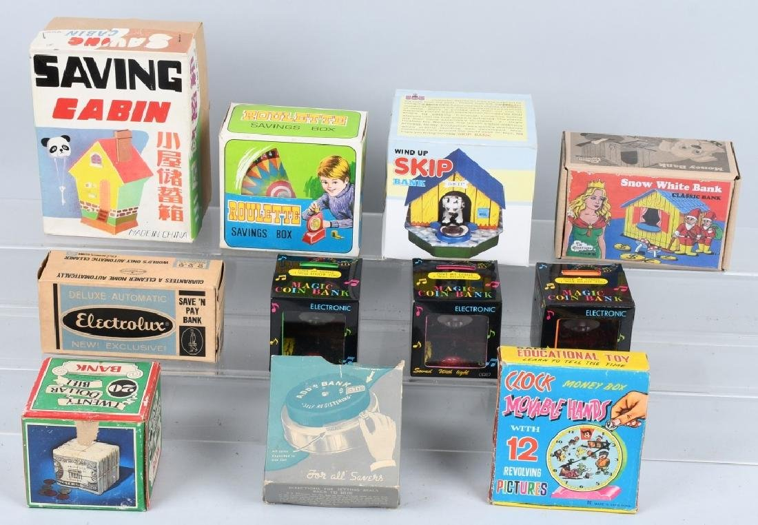 LOT OF VINTAGE BANKS w/ BOXES
