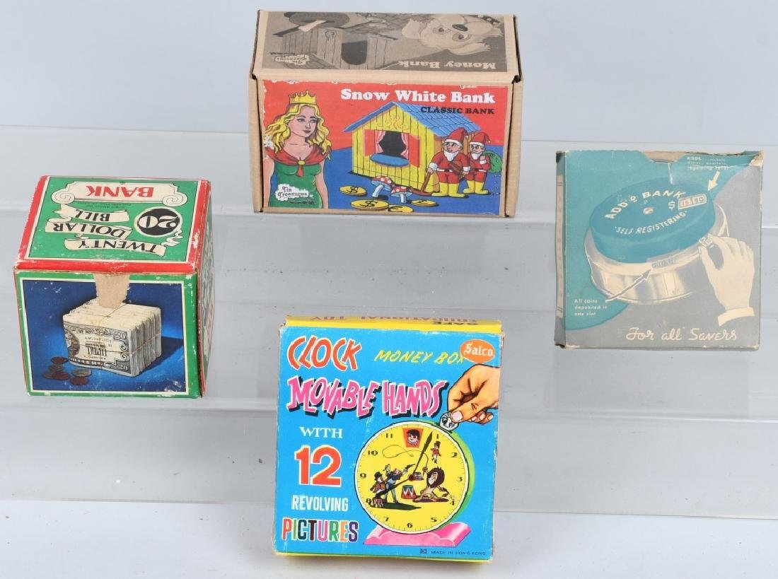 LOT OF VINTAGE BANKS w/ BOXES - 6