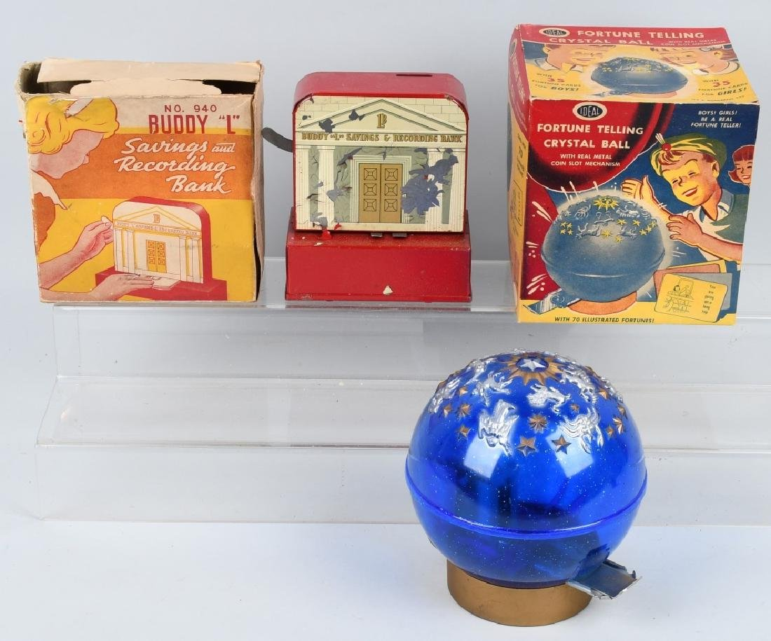 IDEAL FORTUNE TELLING & BUDDY L BANKS W/ BOXES