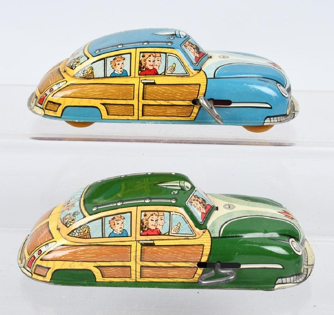 2- MARX Tin Windup WOODY CARS - 2