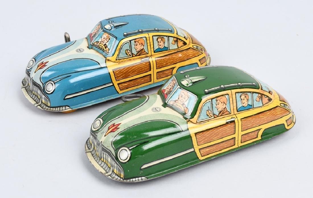 2- MARX Tin Windup WOODY CARS - 3