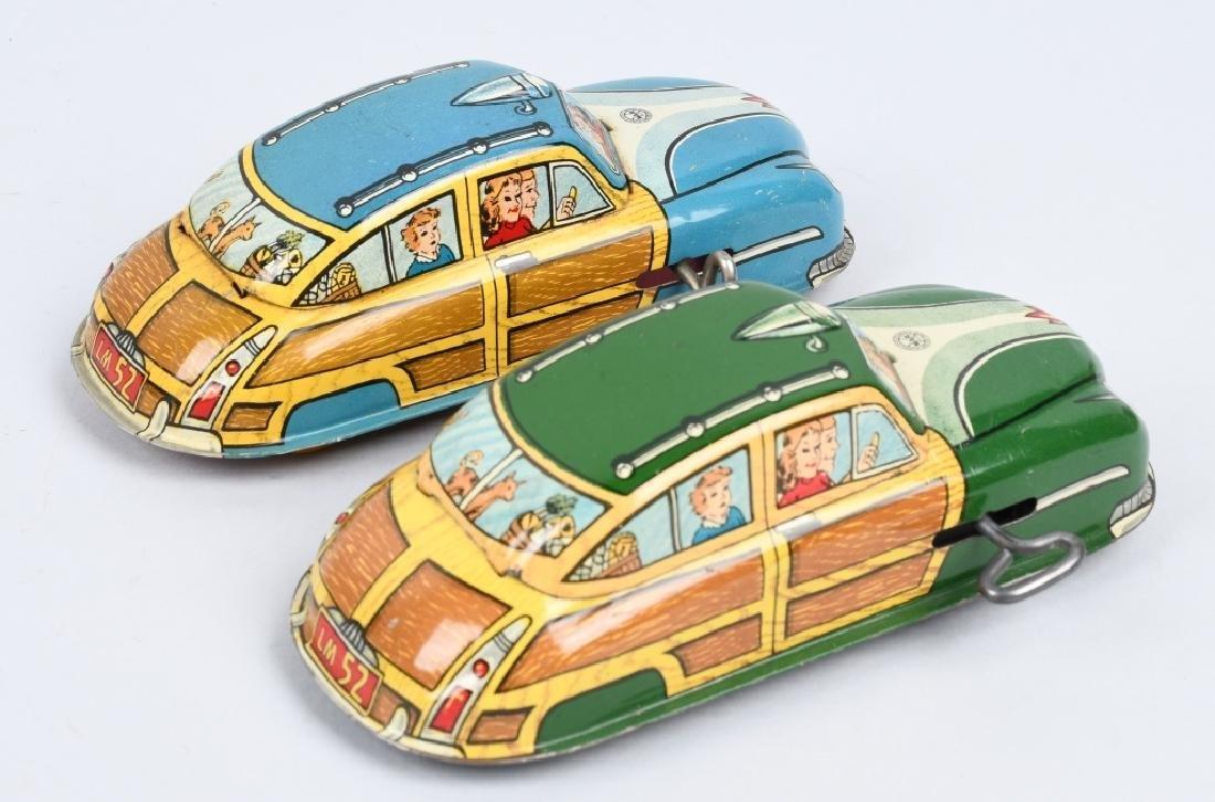 2- MARX Tin Windup WOODY CARS - 4