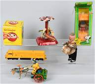LOT of VINTAGE MECHANICAL TOYS, CLOWNS & MORE