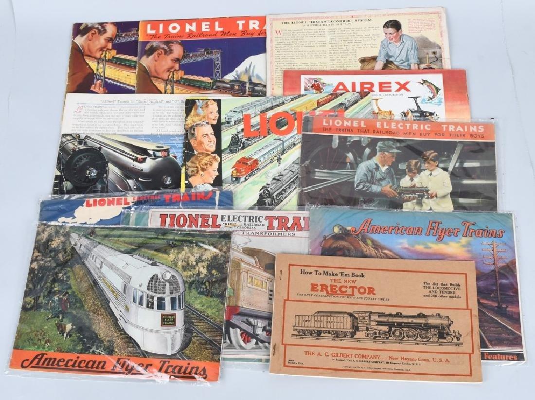 LOT OF 1930s-40s LIONEL TRAIN CATALOGS