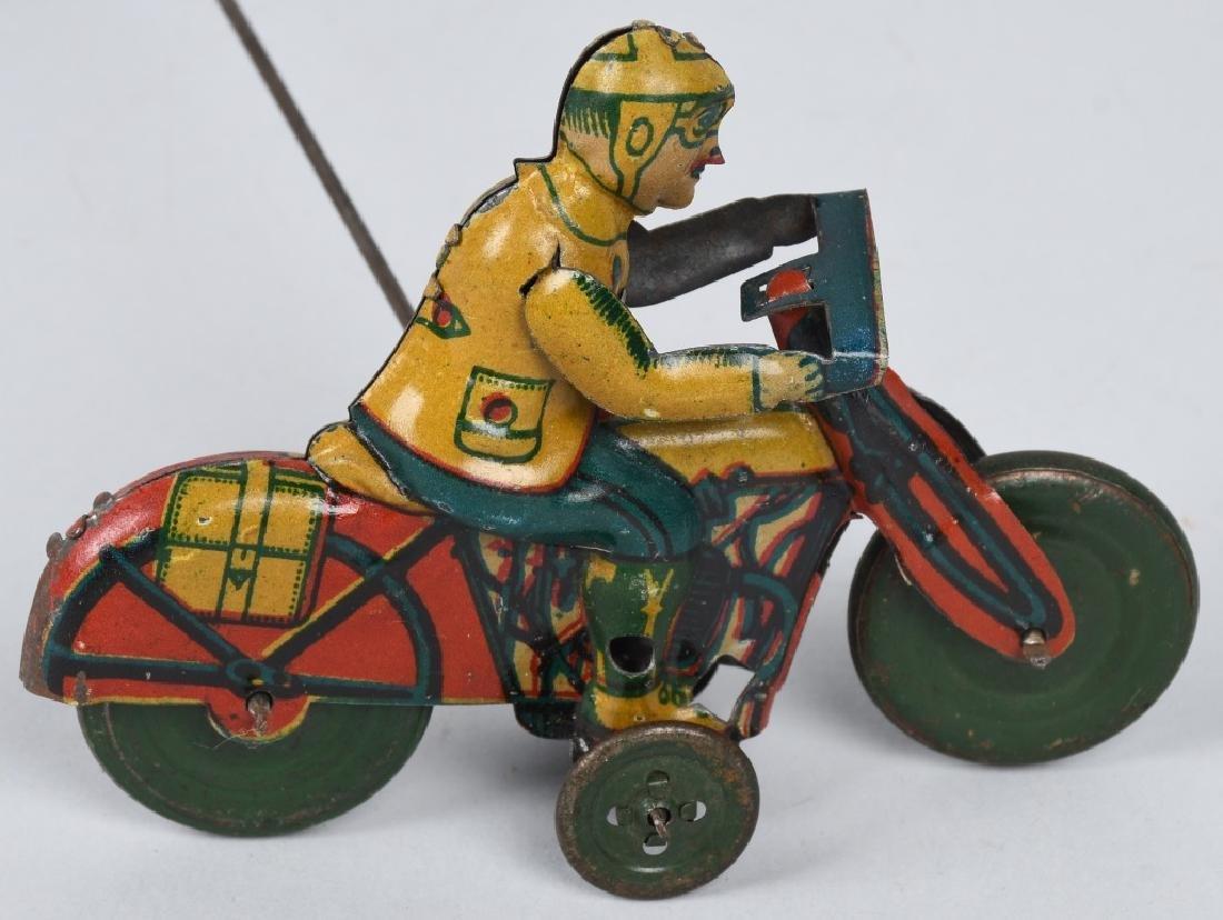 GERMAN WINDUP MOTORCYCLE GO-ROUND - 4
