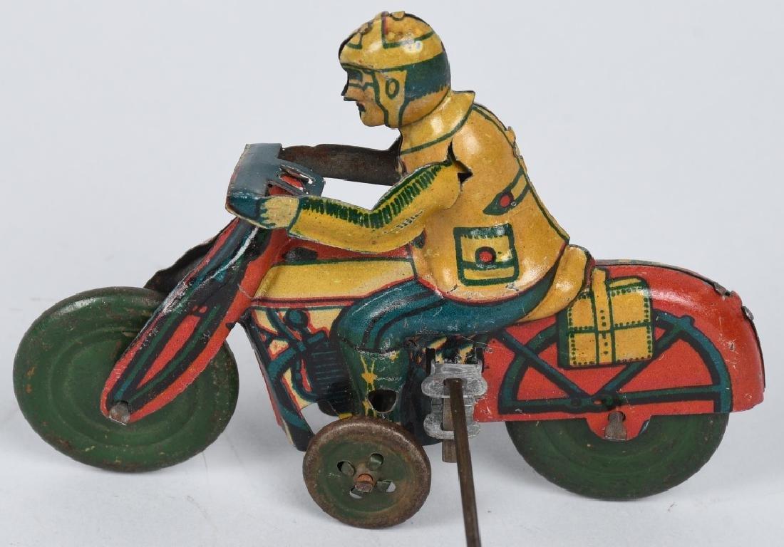 GERMAN WINDUP MOTORCYCLE GO-ROUND - 5