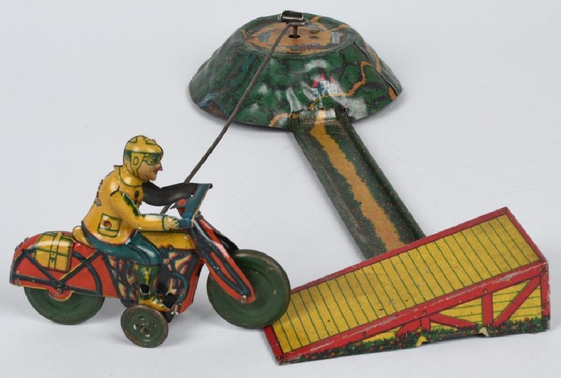 GERMAN WINDUP MOTORCYCLE GO-ROUND - 6