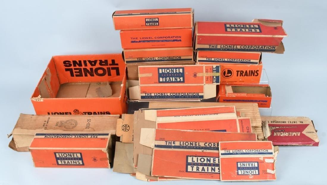 LARGE LOT of LIONEL TRAIN EMPTY BOXES