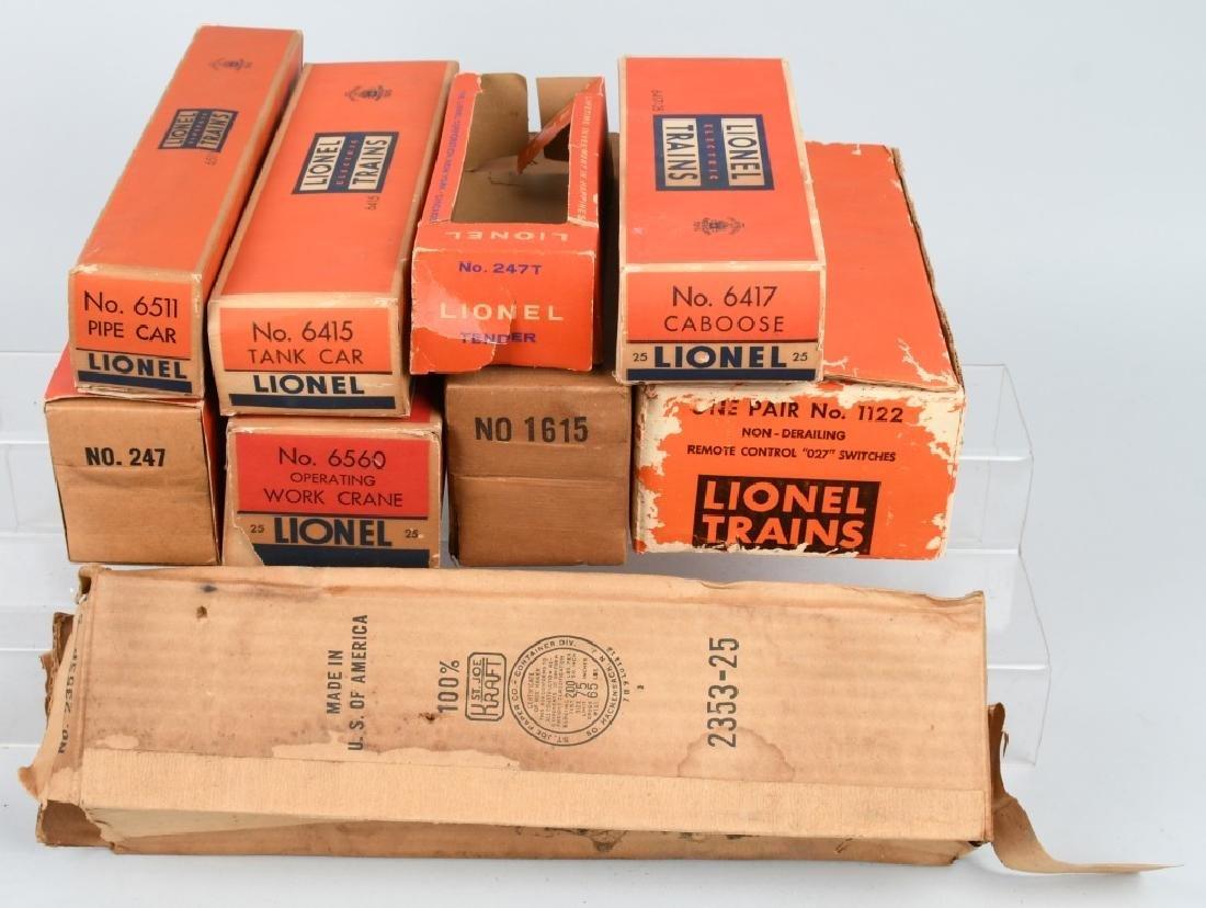 LARGE LOT of LIONEL TRAIN EMPTY BOXES - 2