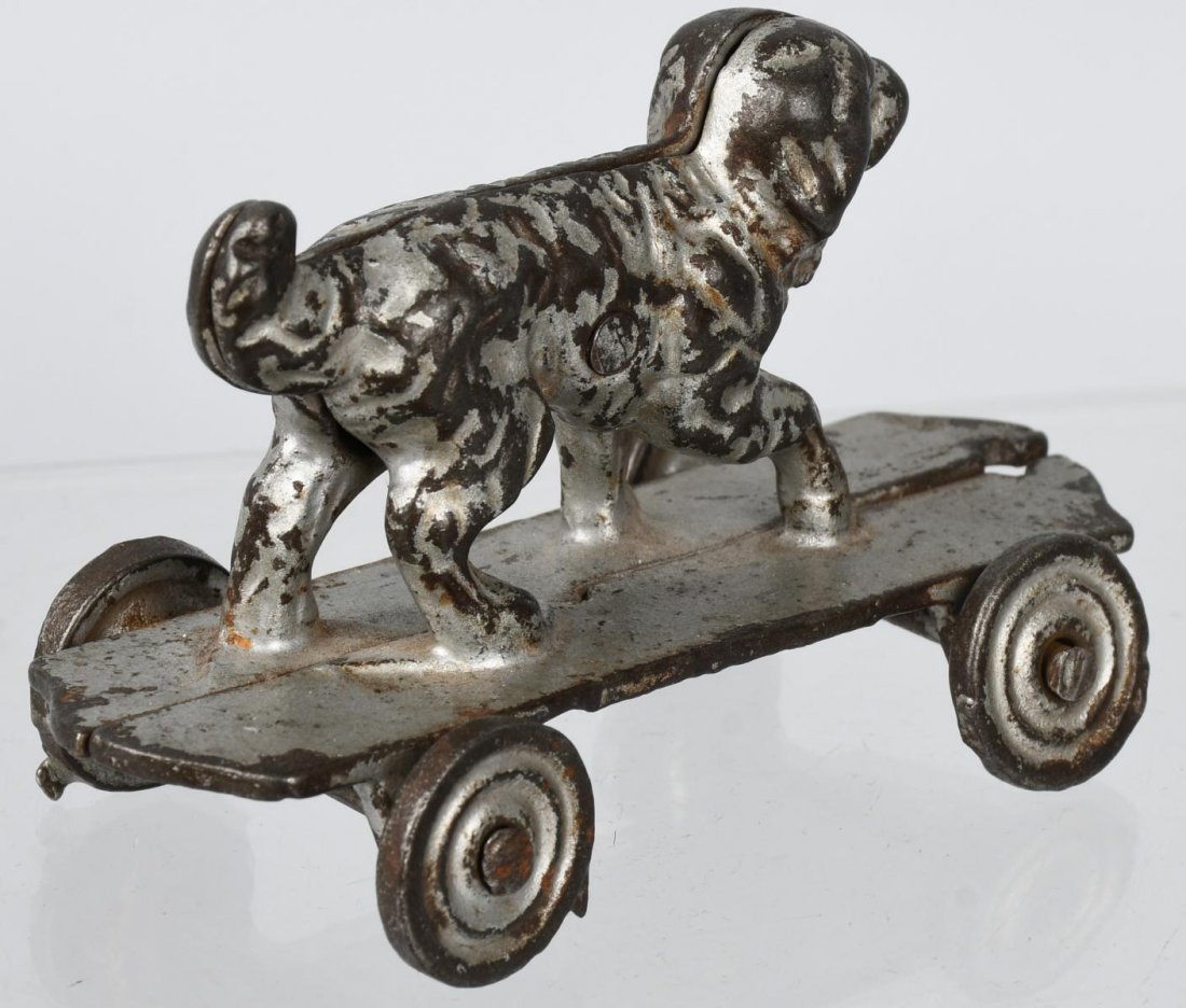SHIMER cast iron DOG on PLATFORM - 3