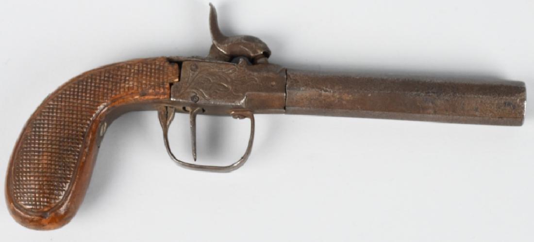 ENGLISH 1850's SCREW BARREL .45 PERCUSSION PISTOL