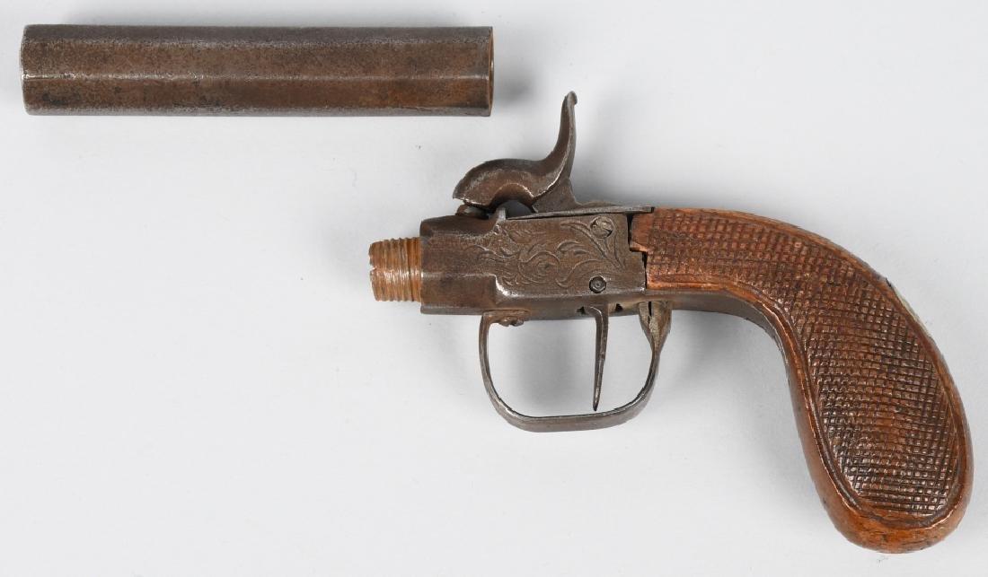 ENGLISH 1850's SCREW BARREL .45 PERCUSSION PISTOL - 3